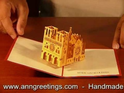 Notre Dame Pop up Greeting Card
