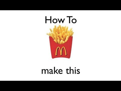 Origami: How to Make A McDonalds French Fry Cup