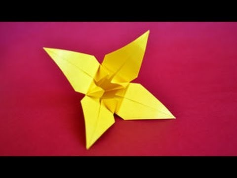 Origami Lily Instructions: www.Origami-Fun.com