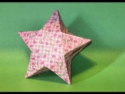 Origami Star Box. (Full HD)