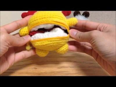 Pokemon Reversible Crochet Doll