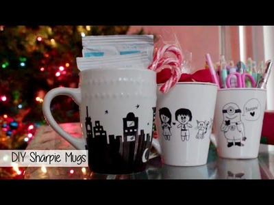 Quick Last Minute Christmas Gift Idea l $1 Gift for Friends.Family l Simple DIY Project Sharpie Mug