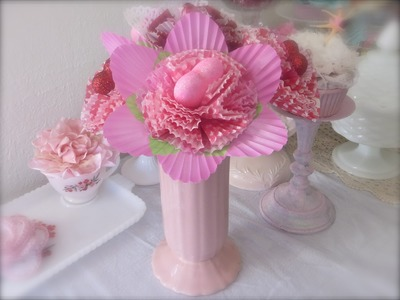 Retro Craft: Cupcake Liner Flower Bouquet