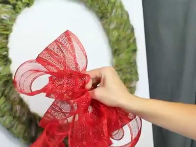 Scarf Wreath - 8th DIY of Christmas!!