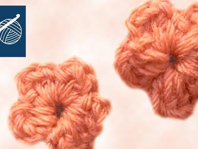 Small Crochet Flower 1 Left Hand Crochet Geek