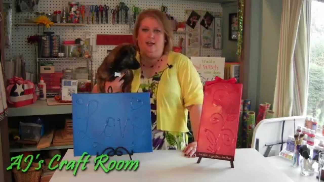 Textured Canvas Art - AJ's Craft Room  (Home Decor Ideas)