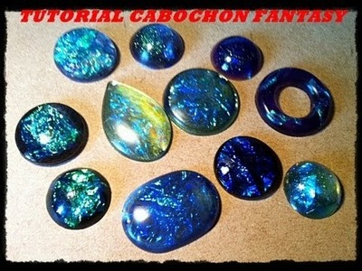 Video tutorial: DIY come creare cabochon in resina dicroic effect. fantasy resin cabochon