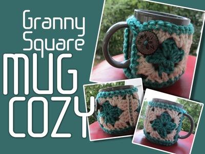 Vol 10 - Crochet Pattern - Granny Square Mug Cozy Cozies