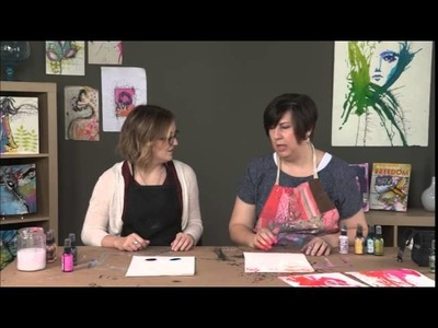 Art Journal Mark Making: Throwing Ink with Dina Wakley and Amy Jones