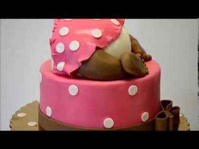 Baby Behind shaped cake - Baby Shower theme cake