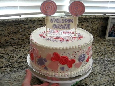 Baby Shower Cake Lollipop Candy Themed