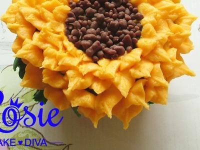 Buttercream Sunflower Cupcakes Tutorial