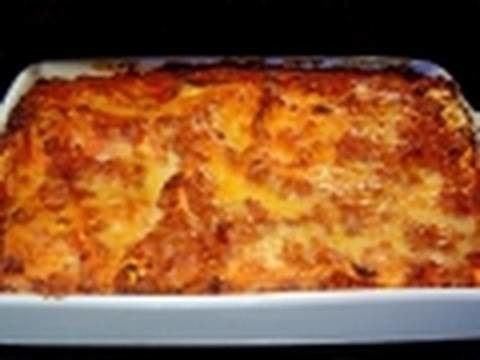 Christmas Lasagna how to make recipe with non traditional béchamel sauce - Italian Food lasagne