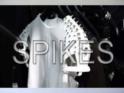 D.I.Y & How To make a spiked. studded Denim Jacket.