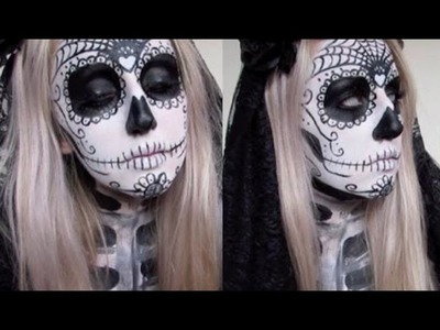 Day of the Dead Bride ♡ Halloween Face Paint Tutorial