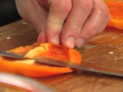Dicing a Bell Pepper by Chef Jean Pierre