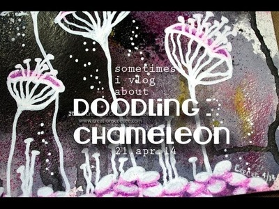 Doodling : how to transform a scrap background into something fun!