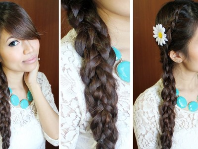 Dutch Multi-Braid Hairstyle for Medium Long Hair Tutorial