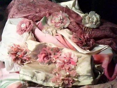 Handmade shabby chic flowers Valentin's Day & spring pt2.