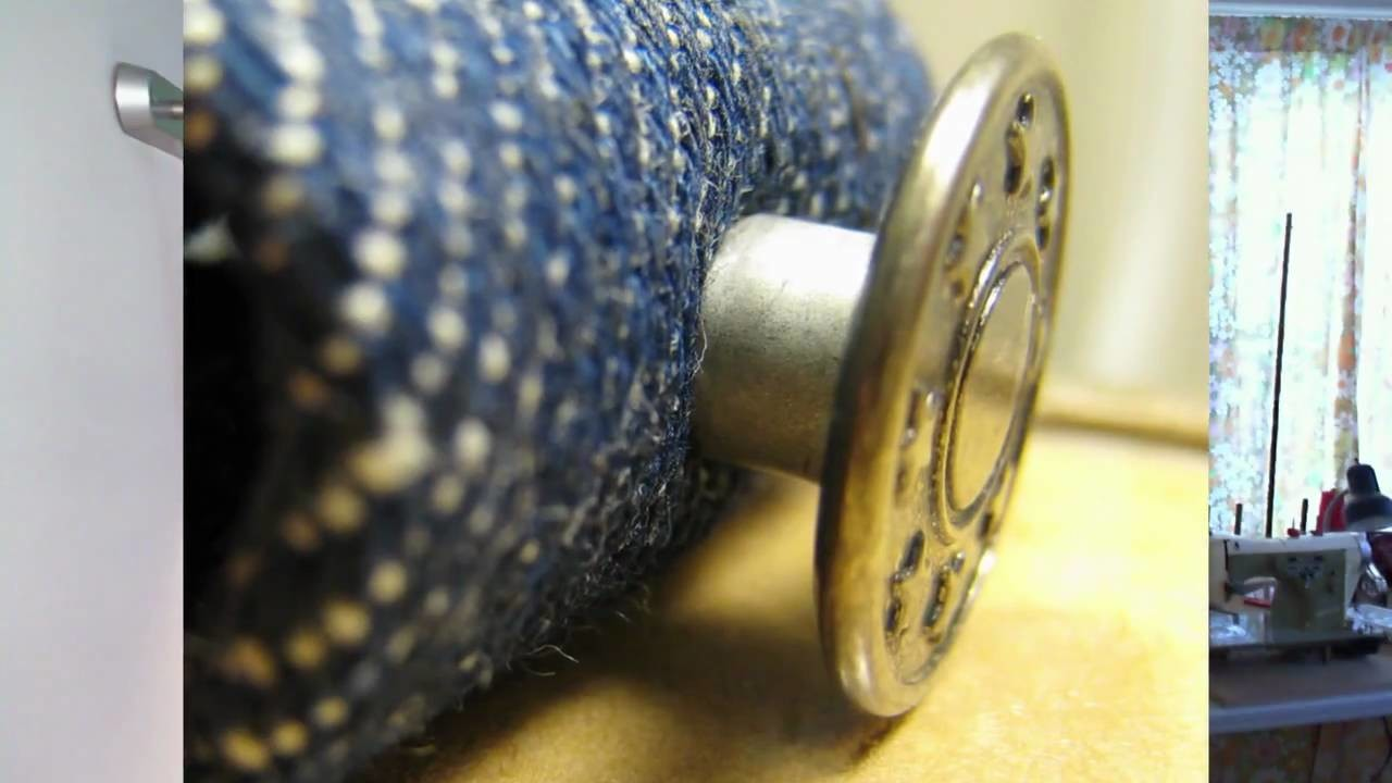 How to attach jeans buttons