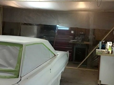 How to build a paint booth for your car.