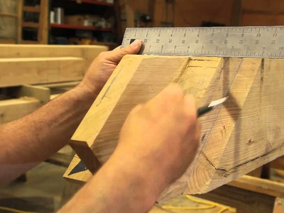 HOW TO CUT AND HAND TOOL FINISH A TENON FOR A TIMBER FRAME HOME