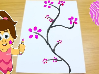 How to do Cherry Blossom Painting