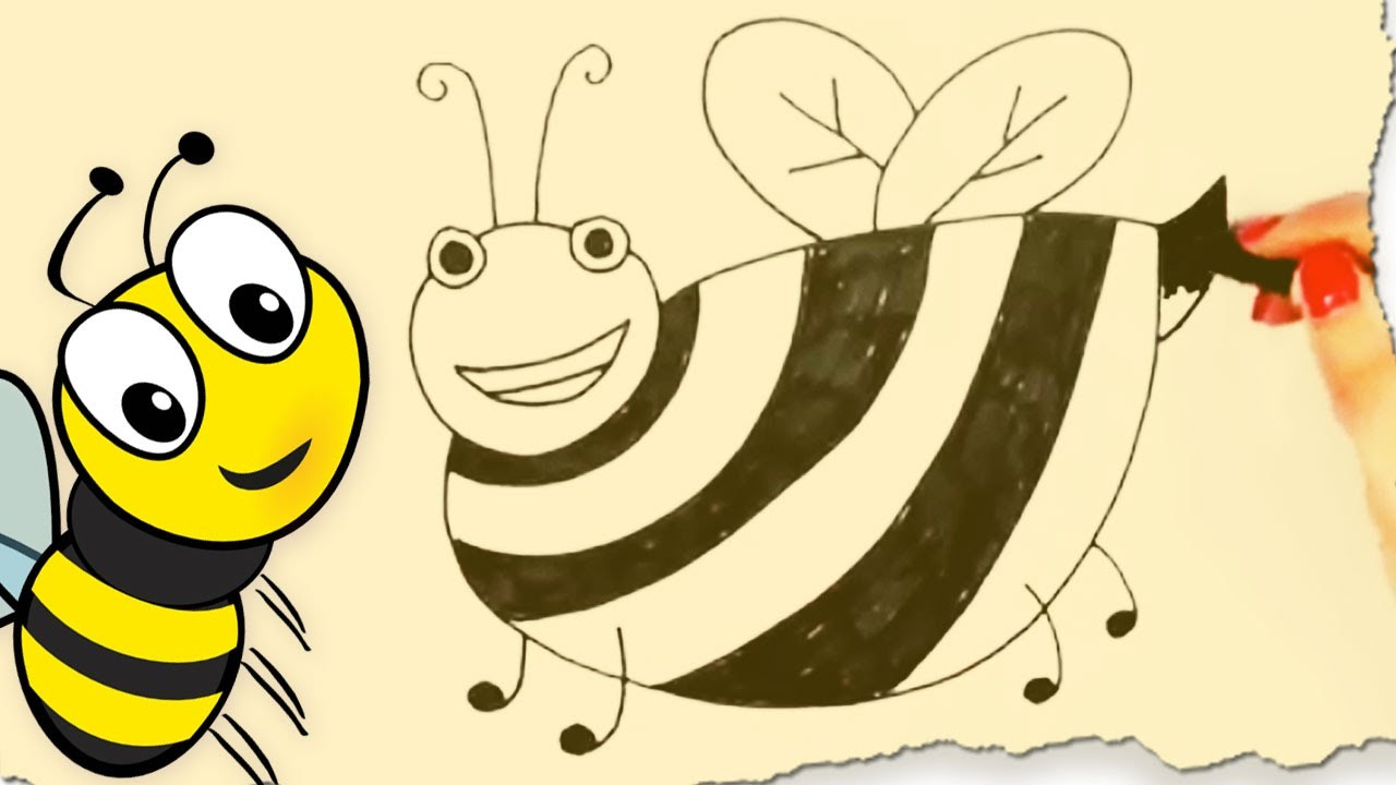 How To Draw A Bumblebee By Hooplakidz Doodle Drawing Tutorial