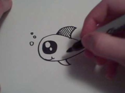 How to Draw a Cartoon Goldfish