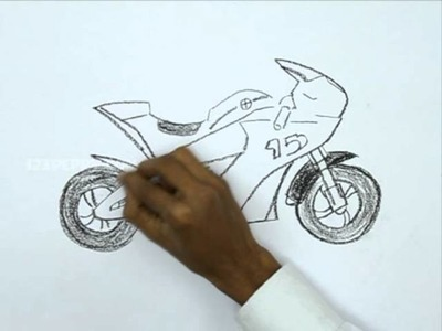 How to Draw a Race Bike