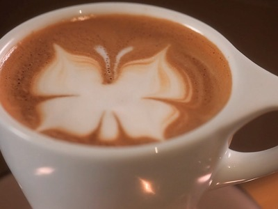 How to Etch a Butterfly   Latte Art