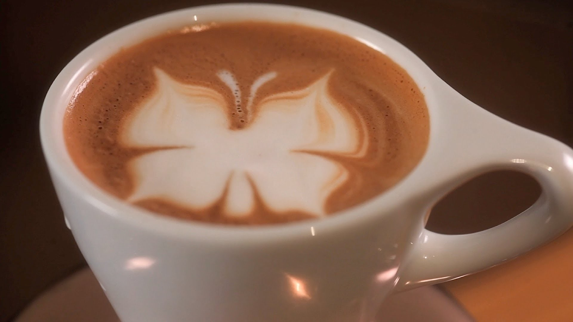 How to Etch a Butterfly | Latte Art