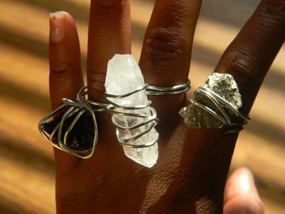 How to make a cool wire wrapped, rock ring!