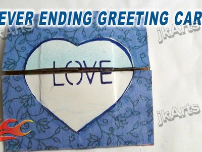 HOW TO: make a endless Love card -  JK Arts 263