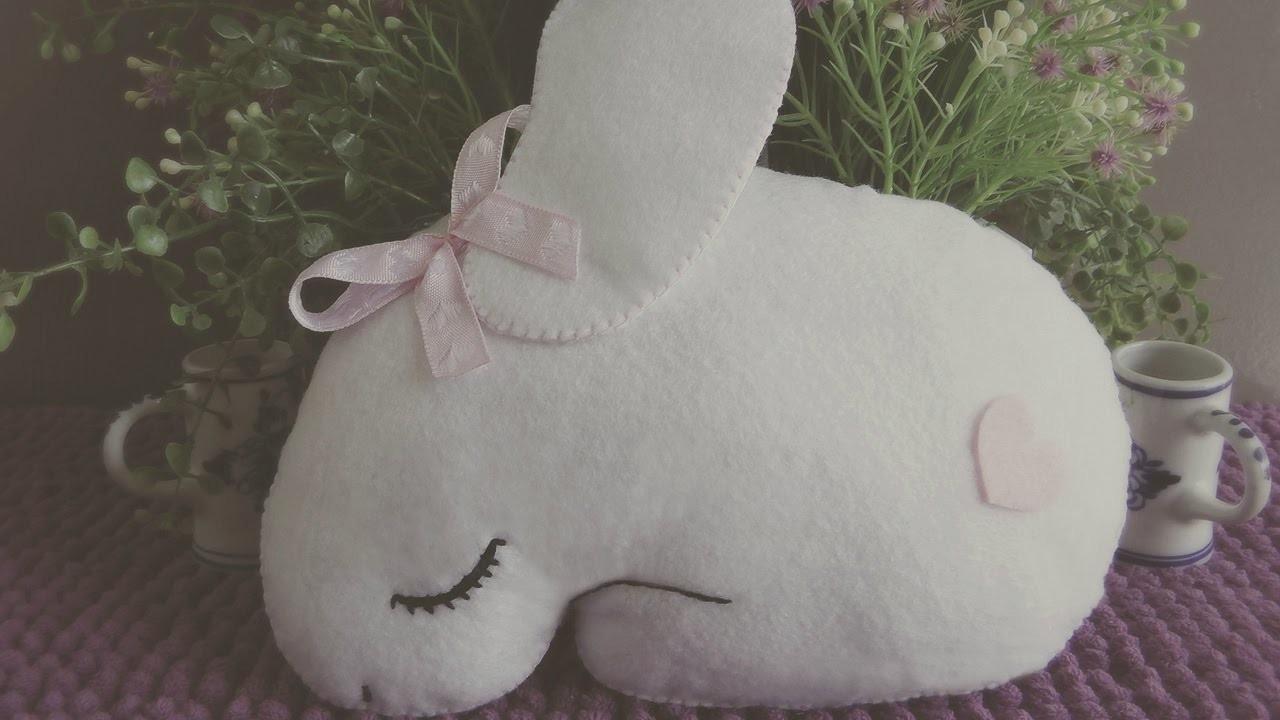 How To Make A Felt Sleeping Bunny Mini Cushion Tutorial