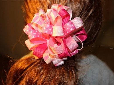 "How to make a Loopy Ribbon Hair Bow for your American Girl doll (18"" doll)"