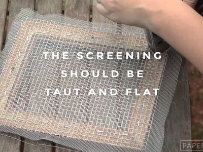 How to Make a Mould & Deckle for Hand Papermaking