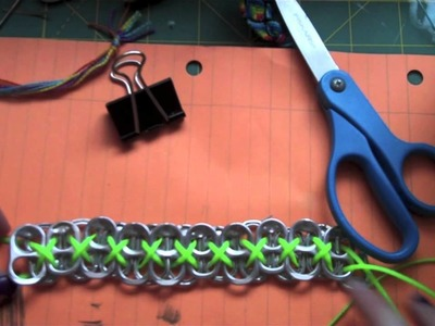 How to make a soda tab bracelet