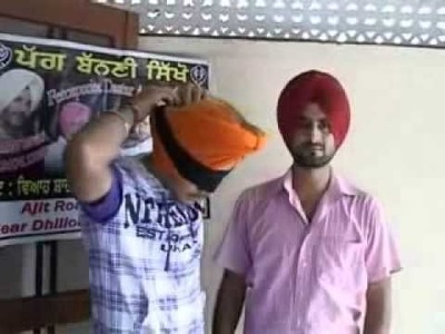 How To Tie A Turban (Tying Turban)  Dastar Academy (Turban Coach) 94635-95040