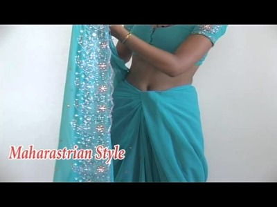 How To Wear Saree In Maharastrian Style