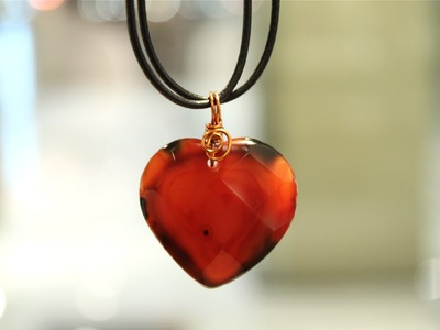 How to Wire Wrap a Gems Heart Pendant Bail