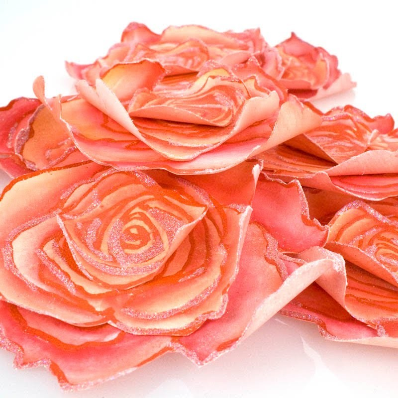Jumbo Cling Rose Paper Pin