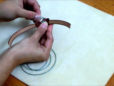 Leather Wrapping Techniques on Italian Flat Leather Cord Tutorial - Beginner