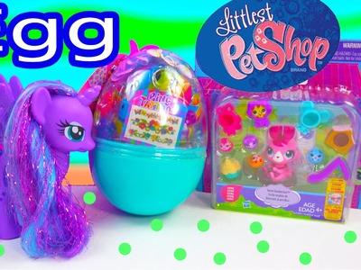 LPS Bunny Easter Egg Surprise Littlest Pet Shop MLP Princess Luna Toy Unboxing Review Video