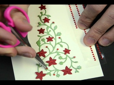 Memory Box Flowering Christmas Tree Card