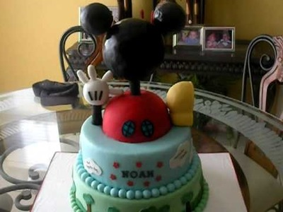 My 8th cake. Mickey Mouse clubhouse theme.