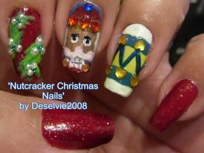 Nutcracker Christmas Nails - Entry to Meliney's Nail Art Contest