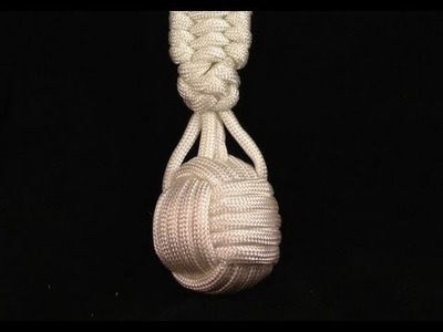 Paracordist How To Tie a Monkeys Fist Knot Supported by 4 Strands