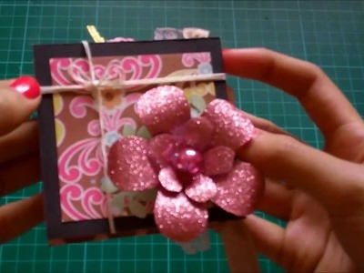 Pink Floral Meander Book Mini Album