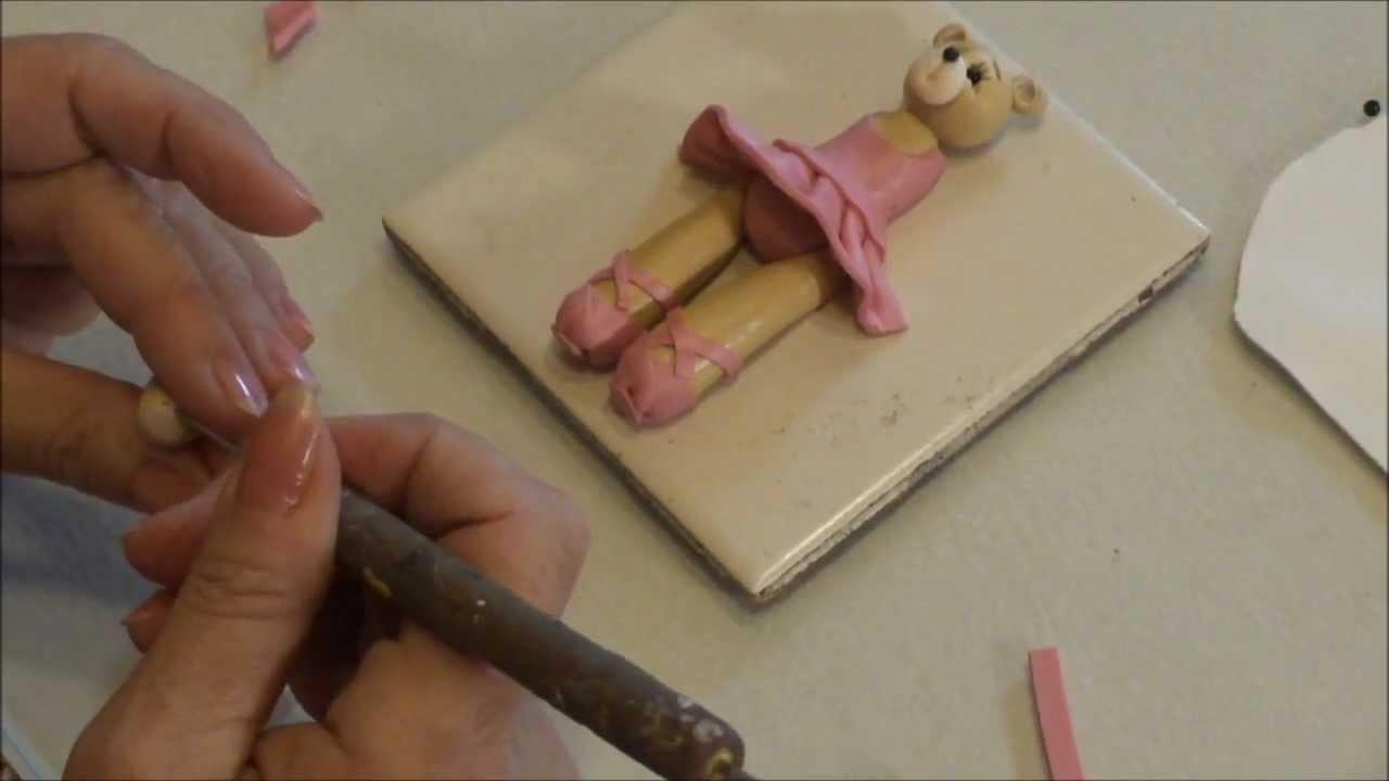 Polymer Clay Tutorial - How to Make a Ballerina Bear Ornament